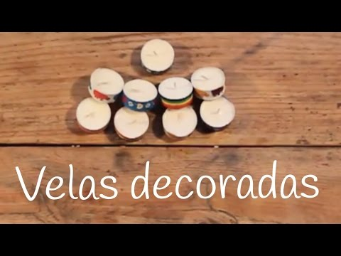 Decorar velitas con washitape