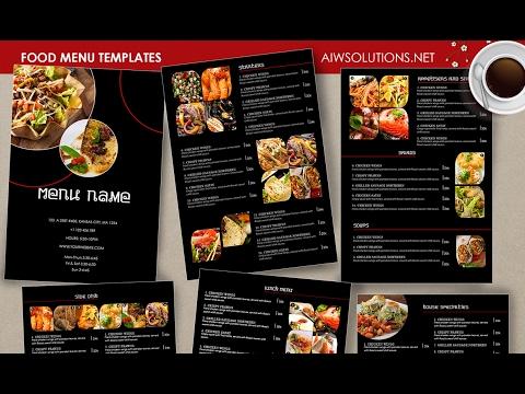How to edit restaurant menu using photoshop - YouTube - menu