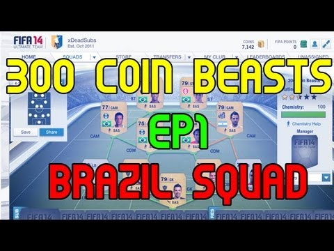 FIFA 14 UT | 300 Coin Beasts #1 | Brazil Squad