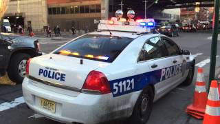 QUICK MINI WALK AROUND OF A NY & NJ PORT AUTHORITY POLICE CRUISER ON 9TH AVE. IN MANHATTAN.