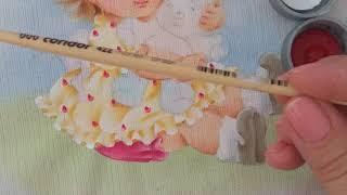Como pintar vestido com estampa
