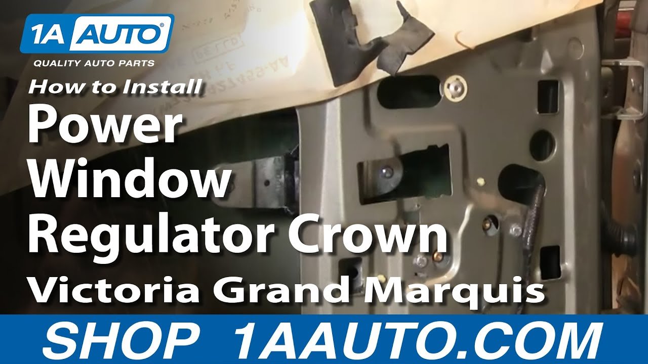how to install replace power window regulator crown victoria grand marquis 92 11 1aauto com [ 1280 x 720 Pixel ]