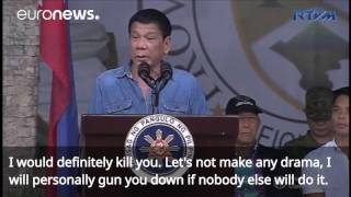 Philippines President Duterte 'threw man out of helicopter'