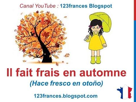 Curso De Francés 35 Las Estaciones Del Año En Francés Vocabulario El Tiempo El Clima Les Saisons