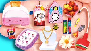14 EASY REALISTIC DIY MINIATURE BARBIE ~ Mini M&M ice cream, ring collection and more!
