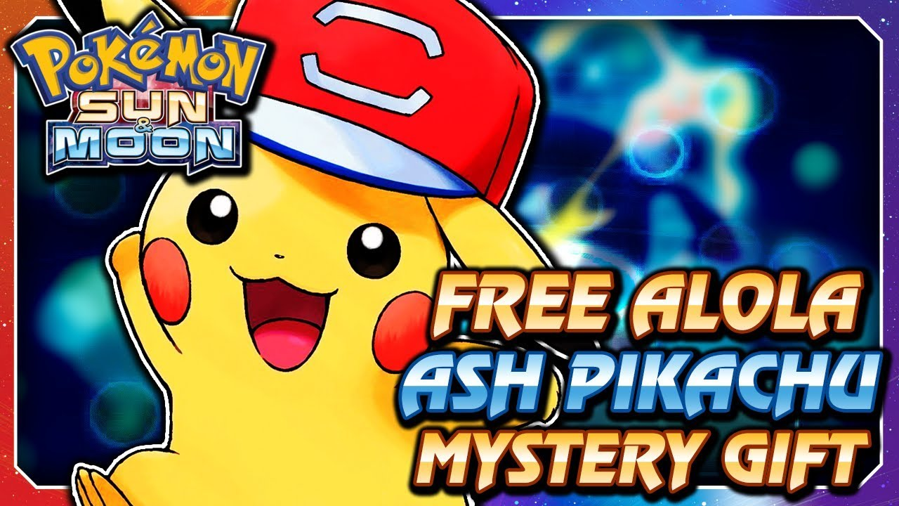 Pokémon Sun Moon Free Alola Hat Pikachu Serial Code Mystery Gift