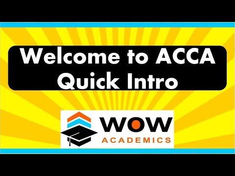 ACCA Course: QUICK Details