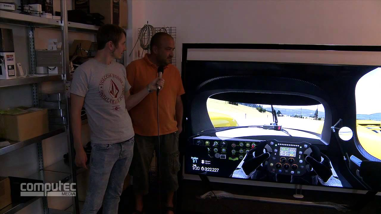 project cars auf einem 4k fernseher mit 85 zoll f r 35000. Black Bedroom Furniture Sets. Home Design Ideas