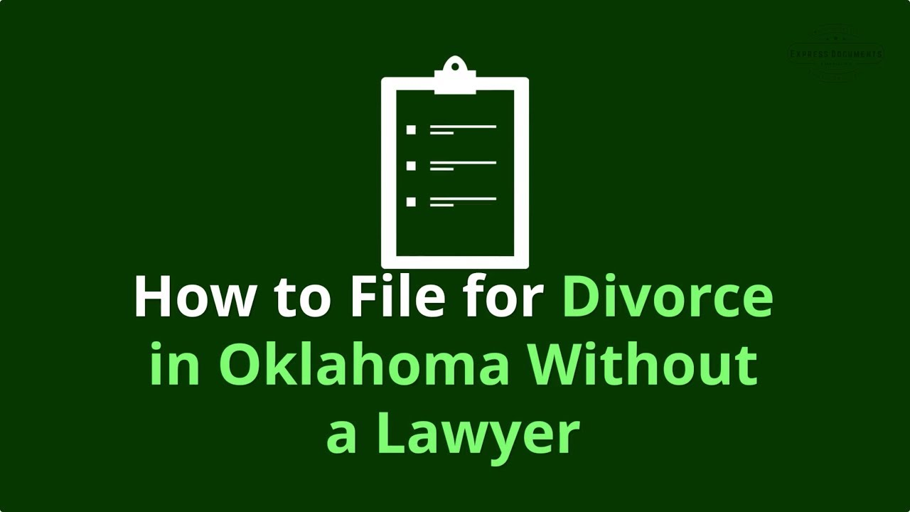 do yourselft divorce procedings in oklahoma