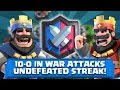 I AM UNDEFEATED IN CLAN WARS! 10-0 WIN STREAK | CLASH ROYALE