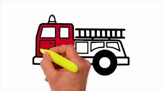 how to draw fire truck fire truck how to draw a fire truck