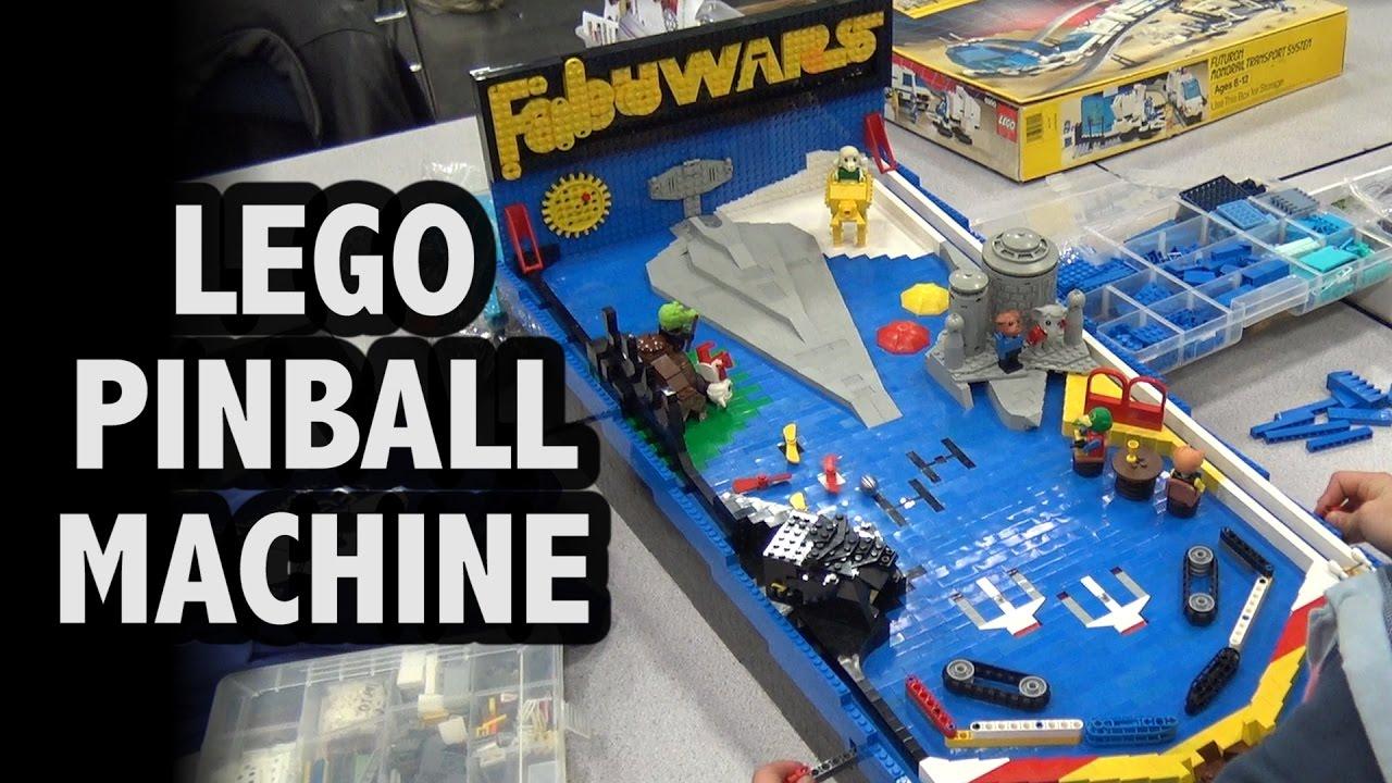 Pinball construction set - Functional Lego Pinball Machine Star Wars Fabuland