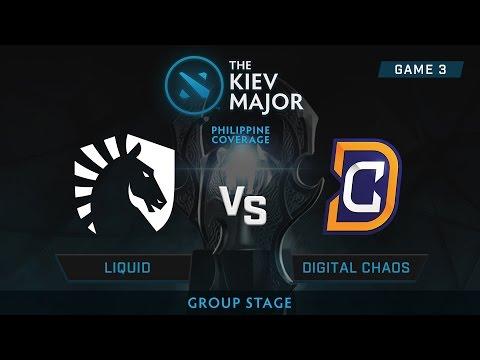 Digital Chaos vs Team Liquid | Kiev Majors : Group Stage | Philippine Coverage | Game 3