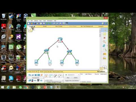 Cisco Packet Tracer | Simple Network (1 Router, 2 Switch & 4 PC)