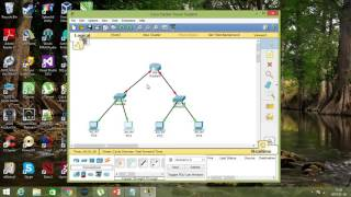 cisco packet tracer   simple network 1 router 2 switch 4 pc