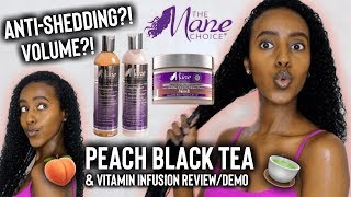 HERE'S THE TEA...NEW Mane Choice Peach Black Tea Collection Review & Wash Day Routine | Lydia Tefera