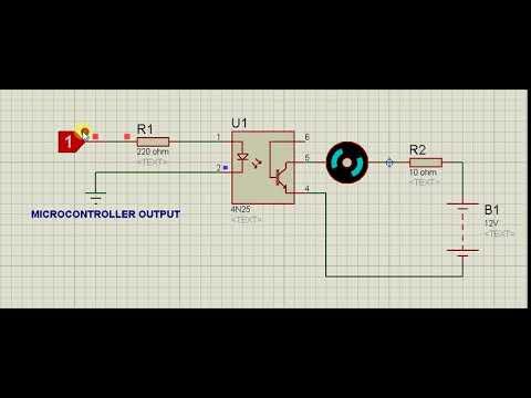 4N25 Optocoupler IC Working