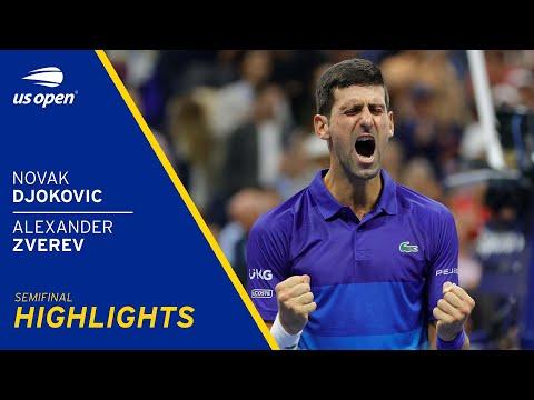 Novak Djokovic vs Alexander Zverev Highlights   2021 US Open Semifinal