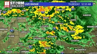 LIVE WEATHER: Tracking storms moving into Georgia