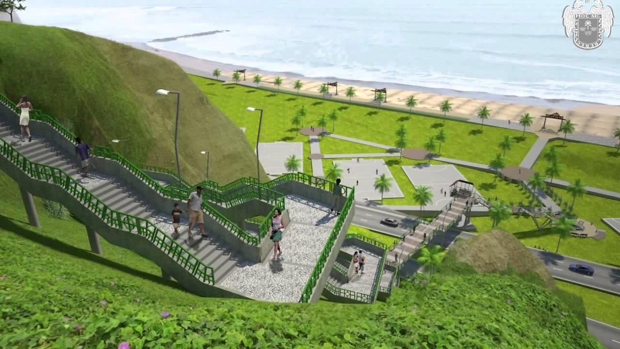 3d costa verde para todostramo ii puentes y escaleras for Escaleras 3d max