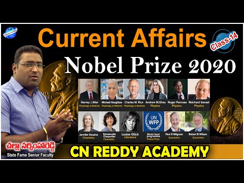 Current affairs Class-14 about Nobile Prize 2020  || CN REDDY ACADEMY.