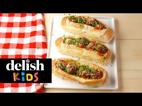 Meatball Boats  Delish KIDS