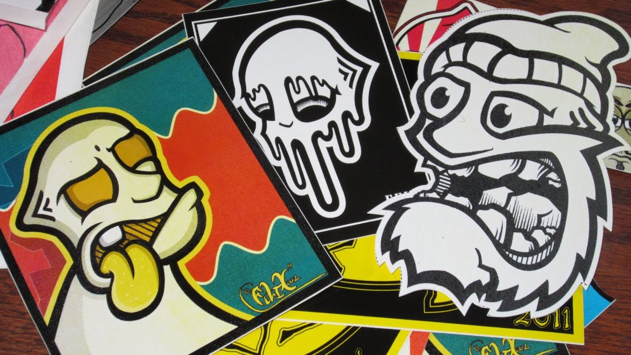 Stickers Tag Graffiti Dope Handstyles Flares And Drips With