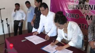 Alcaldesa Claudia Acompa Islas,realiza Convenio de colaboración con el INAH.