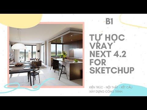 Tự Học Vray Next 4.2 For Sketchup | Bài 1 | Học Sketchup Cơ Bản | CCI