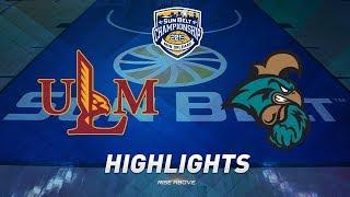 2019 Sun Belt Men's Basketball Championship Highlights: No. 7 ULM vs. No. 6 Coastal Carolina