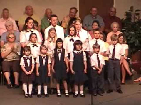 "Livingston Christian Academy Choir sing ""God Is Good All The Time"""