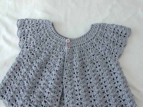 How to crochet a women's shell stitch cardigan / sweater / bolero