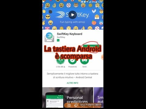 La tastiera Android è scomparsa