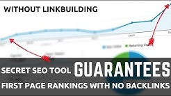 Secret SEO Software Guarantees Rankings WITHOUT Link Building