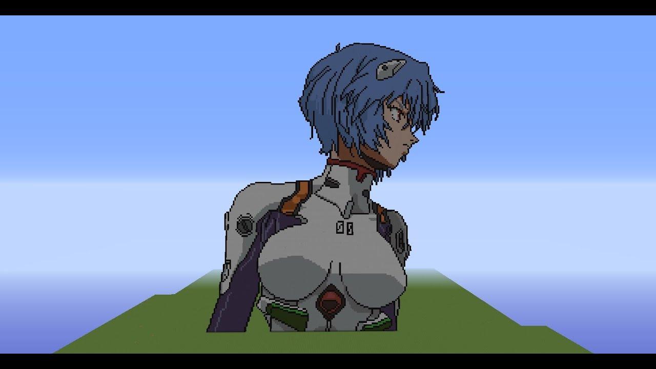 Welcome to my hero academia mc! Rei Ayanami -Evangelion Minecraft - YouTube
