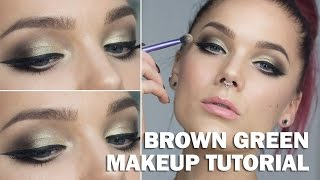 Brown Green Look (with subs) - Linda Hallberg Makeup Tutorials Thumbnail