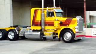 Trucks Leaving The Great American Trucking Show 2013 part 2