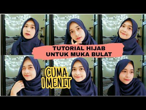 5 Tutorial Hijab Pasmina untuk Pipi Chubby.