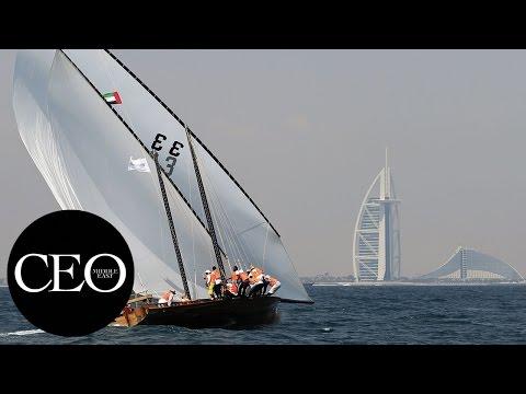 The Al Gaffal traditional dhow sailing race Dubai 2017