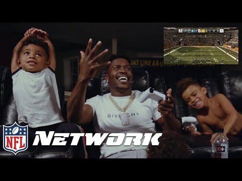 Antonio Brown & His Kids Play as Himself in Madden 19