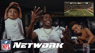 Antonio Brown & His Kids Play as Himself in Madden 19 | NFL Network