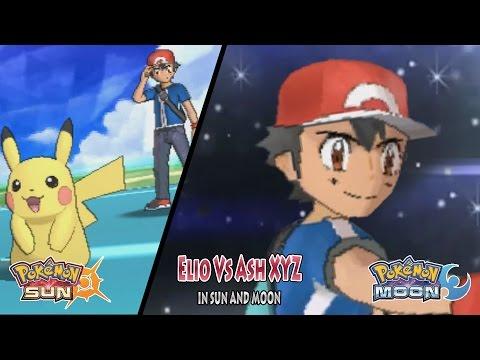 Pokemon Sun and Moon: Trainer Sun Vs Kalos Ash XYZ (Ash Vs Elio)