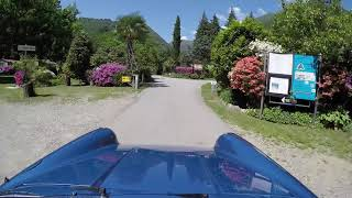 Tour of Camping Valle Romantica in Cannobio Lago Maggiore...in a classy 1972 911S targa Gemini blue
