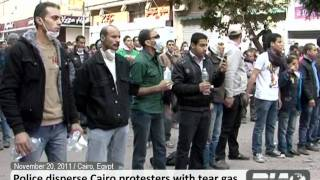 20 11 2011 Police disperse Cairo protesters with tear gas