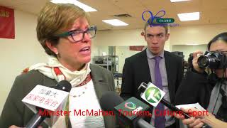 Minister of Tourism, Eleanor McMahon, interview 20170320