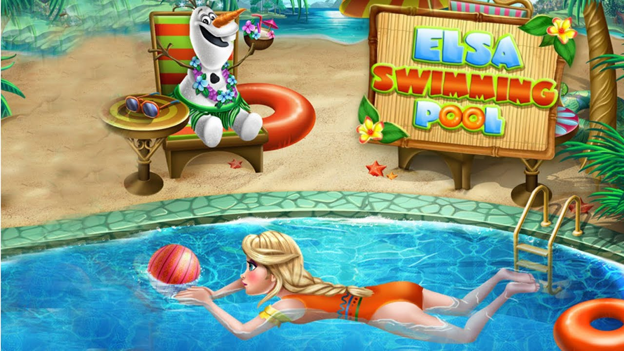 Disney Frozen Elsa Swimming Pool Disney Frozen Girls Games Hd Youtube