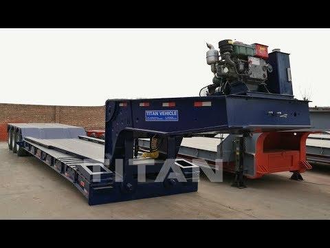 80 Ton Hydraulic Removable Gooseneck Lowboy Trailer 3 Axle For Sale