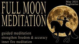FULL MOON MAY 2021 Meditation guided (Sagittarius) super full moon flower moon