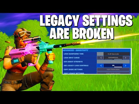 Legacy Settings Are AMAZING In Fortnite Chapter 2 **Fortnite Aim Tips**