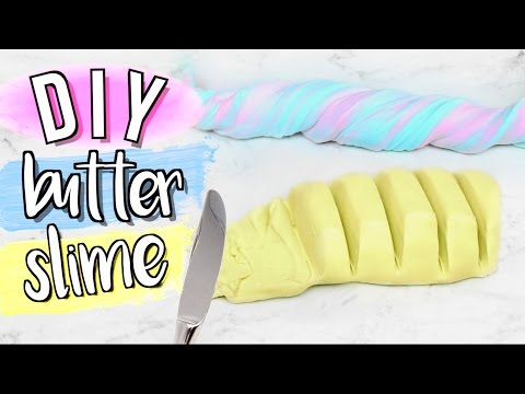 Thumbnail: DIY Butter Slime without Clay or Borax Powder | JENerationDIY